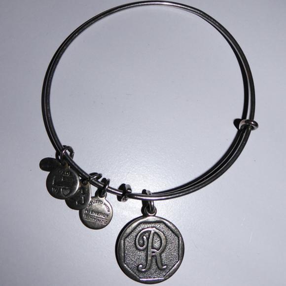 Alex and Ani Jewelry - ALEX & ANI BANGLE CHARM BRACELET LETTER INITIAL R